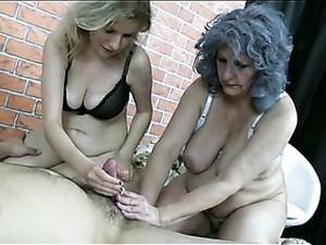 Older Sluts With Saggy Tits Make His Cock Cum