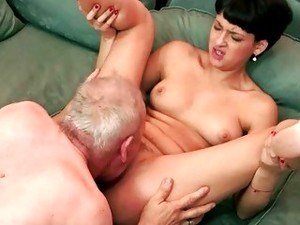 Grandpa Licking And Fucking Cute Teen Brunette