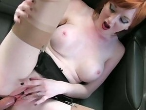 Redhead Babe Exchanged Pussy For A Fare