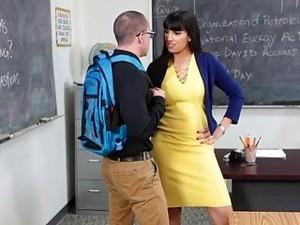 Big Ass Teacher Mrs Carrera Rides Her Student After Class