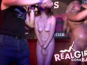 AMATEUR EURO GIRLS GO CRAZY AND NAKED DURING A WET T SHIRT CONTEST