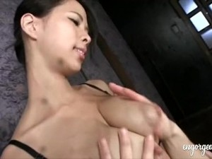 Ema Kisaki Gets Her Lactating Tits Milked By Lucky Dude