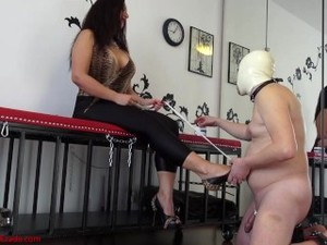 Stiletto In The Dick: Goddess Ezada Shoe Fucking Her Slave's Prick