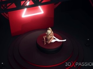 3d Hot Shemale Fucks A Horny Blonde On The Fashion Model Podium