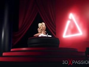3d Hot Dickgirl Fucks A Horny Blonde On The Fashion Model Podium
