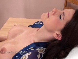 Brunette Pussy Spanked On Gyno Chair