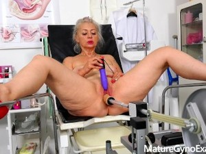 Good Looking Granny Made To Cum By Her Gyno Doctor With A Fucking Machine