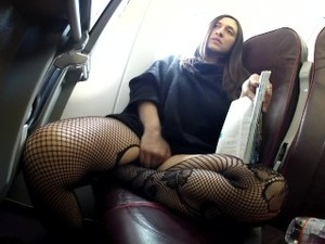 A Flying Orgasm - Rosario Gallardo Masturbating During Flight To Prague