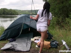 Threesome On A Camping Trip With Cute Nicole Love