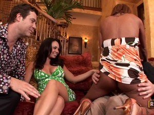 Round Breasted Wives Demi Delia And Holly West Switch Husbands On Tape