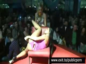 Public Masturbation And Orgasm Contest On Stage