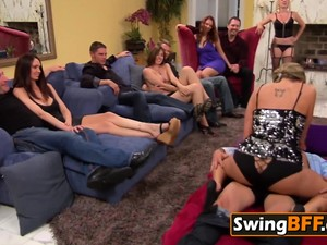 Dirty Chick Takes Cuckold To SWINGER Hardcore Party For ORGY