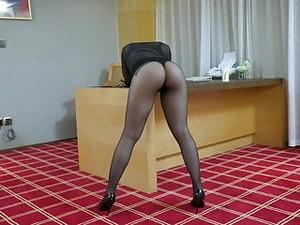 Asian Girl Pantyhose Ass