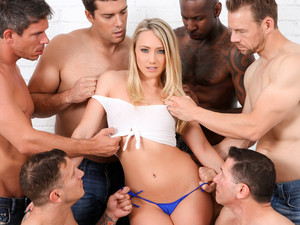 AJ Applegate & Jon Jon & Ramon Nomar & John Strong & Mick Blue & Erik Everhard In AJ Applegate In GB Video
