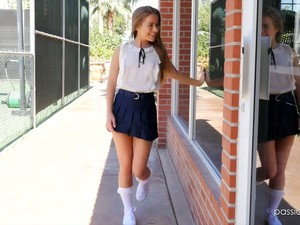 Super Flexible Sporty Chick Lilly Ford Gets Hammered Missionary Hard Enough