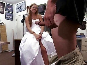 Shameless Slutty Brunette Bride Cheats Her Husband After The Wedding