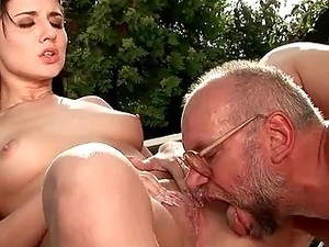 Grandpa And Pretty Girl Fucking And Pissing