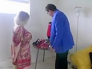 Chubby Blonde Seduces And Fucks An Old Man.