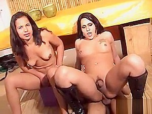 Girl, Ladyman And A Guy In Slutty 3some