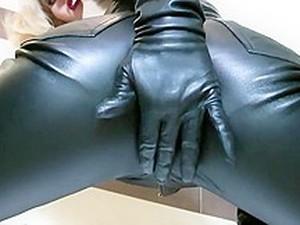 Leather Mistress Teases