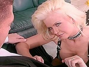 Kinky Maya Fucks In Leather Lingerie