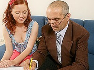 TrickyOldTeacher - History Lessons Make Student Swallow Cum And Fuck Her Older Teacher