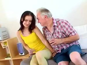 Old Man Young Girl - Shy Girl And Old Seducer