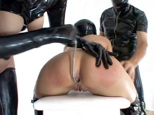 Latex Bitch Gets An Anal Drilling In Rubber Xxx Movie