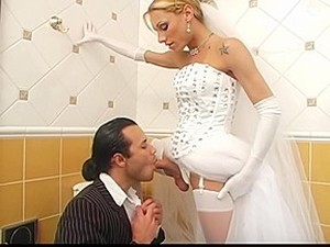 Shemale Bride Fucks Best Man Before Wedding