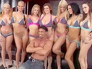 Big Tit Oil Orgy Behind Scene