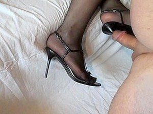 Blades With Foot And Shoe Masturbation