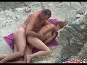 Voyeur On Public Beach Sex In The Mountains Feature