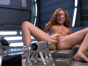Brunette Fucks Machine And Rides Sybian