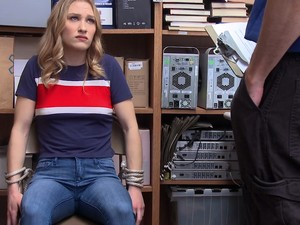 BLONDE Thief GETS CAUGHT And Fucked Hardcore In The OFFICE