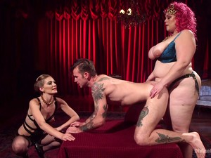 Mona Wales And Another Girl Punish A Guy By Fucking Him With Toys