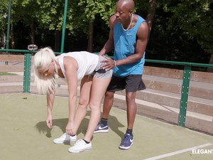 Interracial Anal Fuck With Blonde Blanche Bradburry And A Black Guy