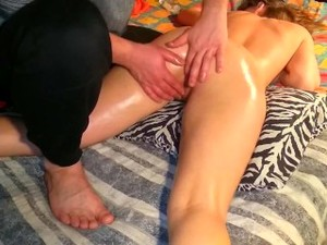 Massage G Point, Real Orgasm. The Guy Brought The Teen's Step-sister To Org