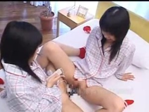 Airi And Meiri Cute Japanese Twin Sisters Plays With Dildo
