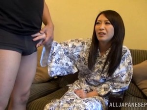 Blistering Asian Babe In Sexy Panties Giving A Stunning Blowjob Till He Cums In Her Mouth