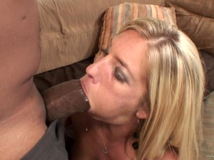 Sexy Blonde Loves Big Black Monster Cocks