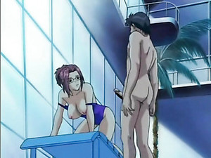 Anime Girl In Swimsuit Fucked Hard In The Pool