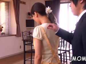 Wonderful Mature Nipponese Maid Miku Aoki Gets Super Wet