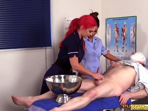 Nasty Nurses Sucking On Patients Dick