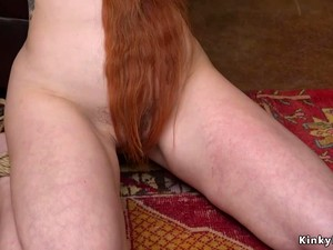 Long Haired Redhead Anal Fucked In Bondage