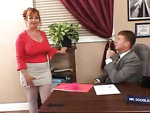 Chubby Milf Redhead Secretary Fucked In Office
