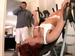Naughty MILF Nicki Hunter Gets Her Pussy Fucked Deep In A Gym