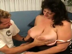 Brunette Mom Jenny Blows And Gives A Fantastic Titjob
