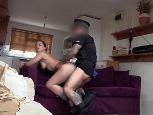 UK Babe Gets Cum In Mouth By Police Officer