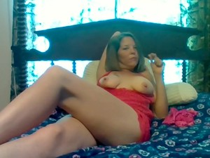 Sexy Big Tit Milf Smoking A Blunt Showing Her Pussy And Tits
