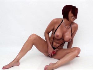 Audrey Oiled Whit Her Toy